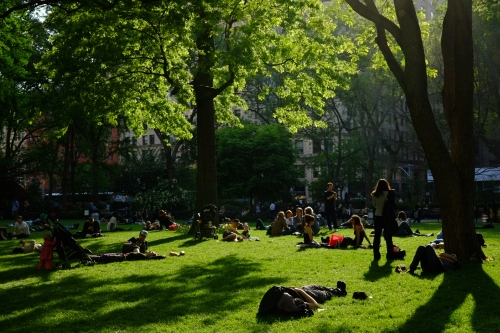 Spring afternoon in Madison Sq. Park. 32 mm