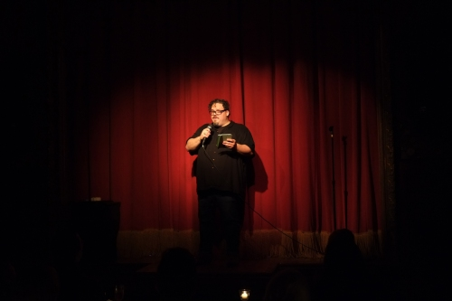 Matt Hill onstage at Paper Burlesque. 32 mm