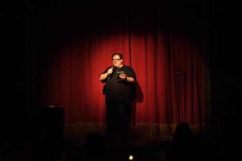 Matt Hill onstage at Paper Burlesque. 32 mm