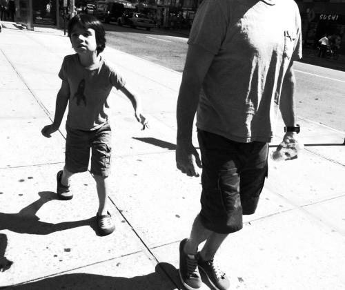 Kid on the street. Hi Contrast B&W Ricoh GRD IV