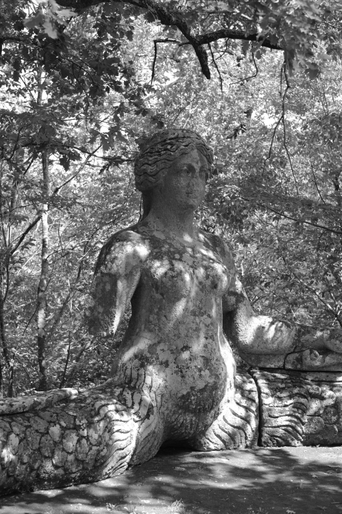 Monster Garden, Bomarzo Italy. Fujifilm Xpro 1 35mm 1.4 1/320 f 2.8 iso 200 B&W film sim mode