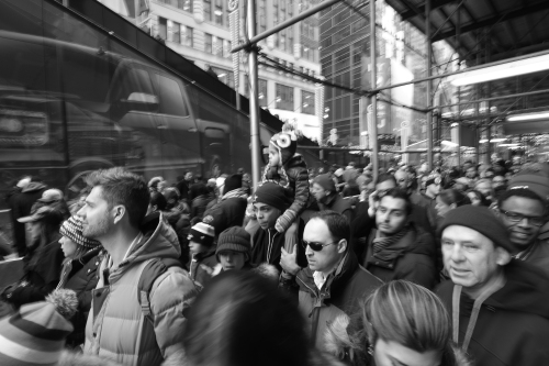 The crowds were daunting. Movement was a crawl. So many fans, so many New Yorkers. But we are used to crowds are we not? Zeiss 12mm f2.8