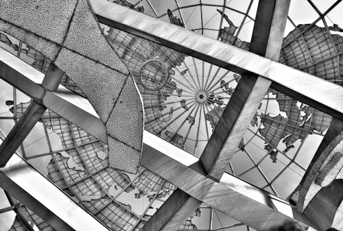 Looking Up into the Globe at Flushing Meadows Park