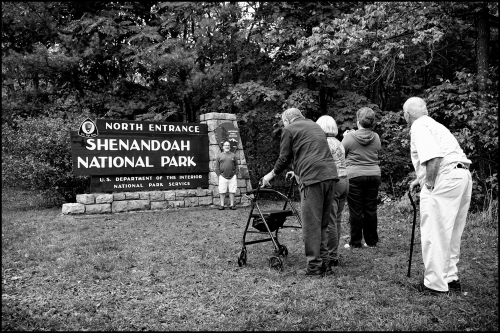 Elderly folk appreciating the park. They moved slow, but stuck a cord inside me. America's National Parks are for everyone, every age.
