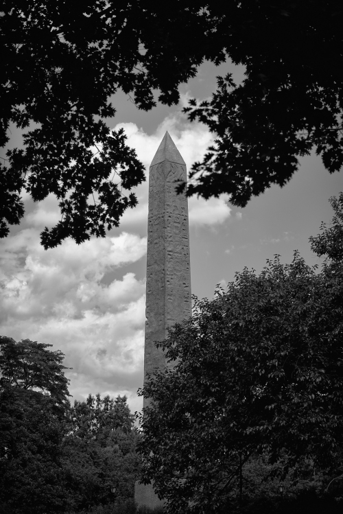 The Obelisk next to the Met in Central Park. Sony 90 f2.8 Processed in Nik Silver efx