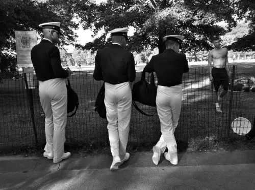 Sailors in central park